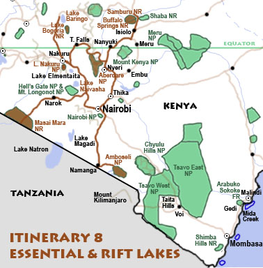 Itinerary 8: Essential & Rift lakes